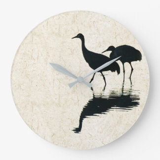 Sandhill Crane Birds Animals Wildlife Wall Clock