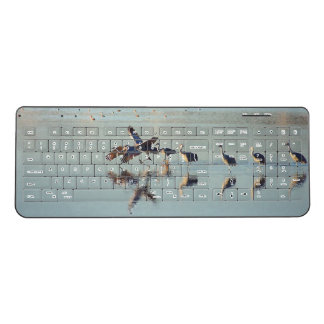 Sandhill Crane Birds Animals Wireless Keyboard