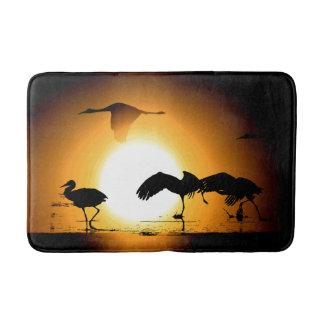 Sandhill Crane Birds Wildlife Animals Bath Mat