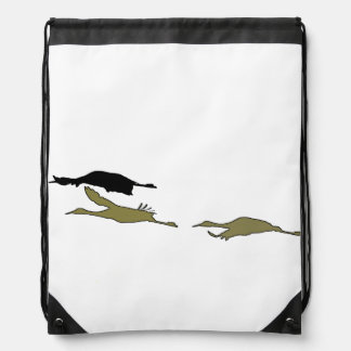 Sandhill Crane Birds Wildlife Animals Cinch Bags