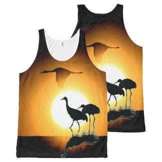 Sandhill Crane Birds Wildlife Animals Sun All-Over-Print Tank Top