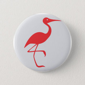 Sandhill Crane Icon 2 Inch Round Button