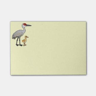 Sandhill Crane with Colt Post-it® Notes