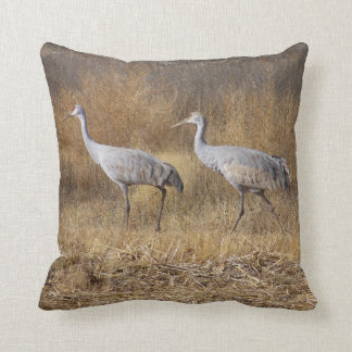 Sandhill Cranes Birds Animal Wildlife Pillow