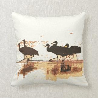 Sandhill Cranes Birds Wildlife Animals Pillow