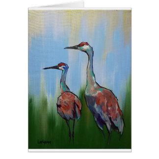 Sandhill Cranes Card