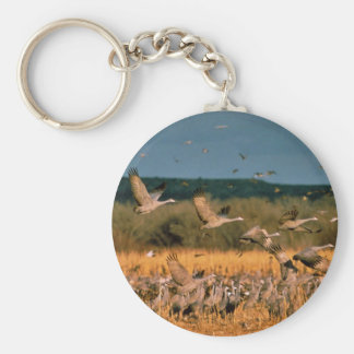 Sandhill Cranes Keychain