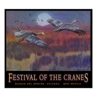 sandhill festival for november LARGE Poster