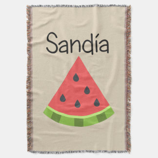 Sandia (Watermelon) Throw Blanket
