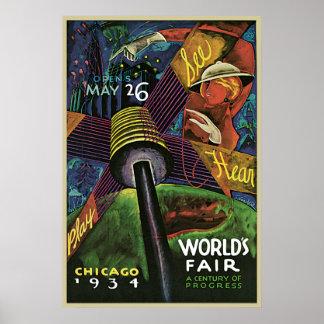 Sandor Chicago World's Fair Poster