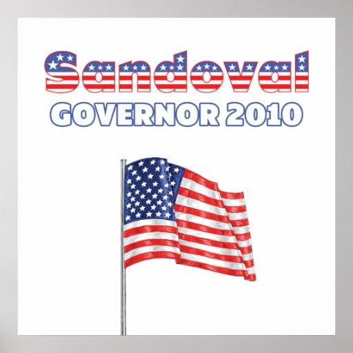 Sandoval Patriotic American Flag 2010 Elections Posters