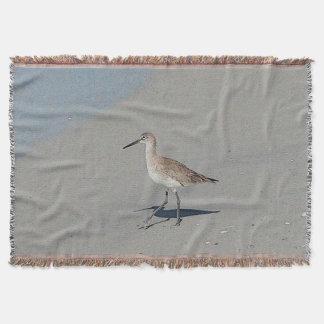 Sandpiper Beach Scene Throw Blanket