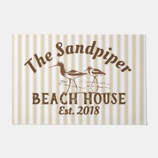 Sandpiper Birds & Stripes Beach House Neutral Doormat