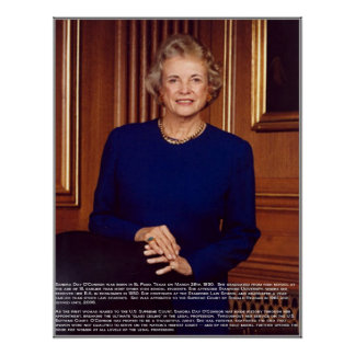 Sandra Day O'Connor w/Bio Print