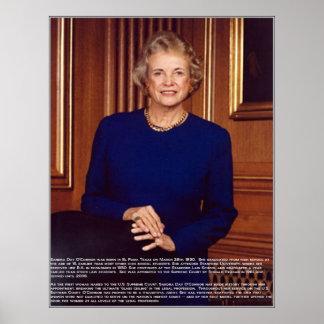 Sandra Day O'Connor w/Bio Poster