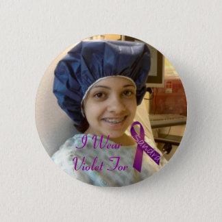 sandra, I Wear Violet For 2 Inch Round Button