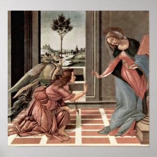 Sandro Botticelli - Annunciation Poster