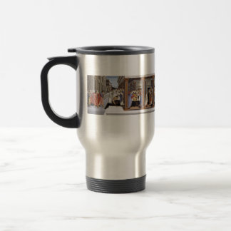Sandro Botticelli- Baptism of St Zenobius Travel Mug