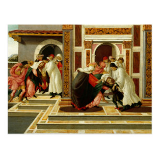 Sandro Botticelli - Last Miracle and the Death of Postcard