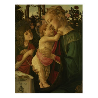 Sandro Botticelli:The Madonna and Child with Saint Postcard