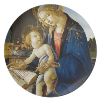 Sandro Botticelli - The Virgin and Child Party Plates