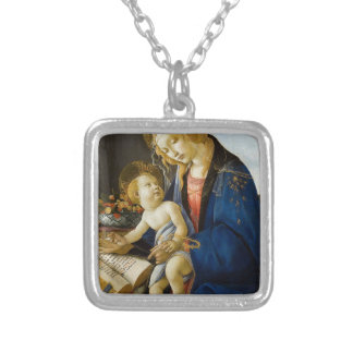 Sandro Botticelli - The Virgin and Child Silver Plated Necklace