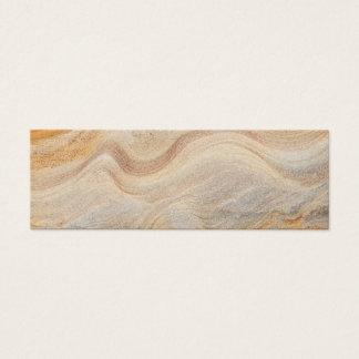 Sandstone Background - Sand, Stone Rock Customized Mini Business Card