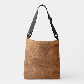 Sandstone Brown Design Crossbody Bag