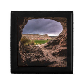 Sandstone Cave In Stormy Weather - Moab - Utah Keepsake Box