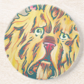 Sandstone Coaster - Cowardly Lion