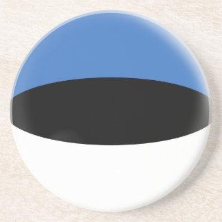 Sandstone Coaster - Estonia Estaonian flag