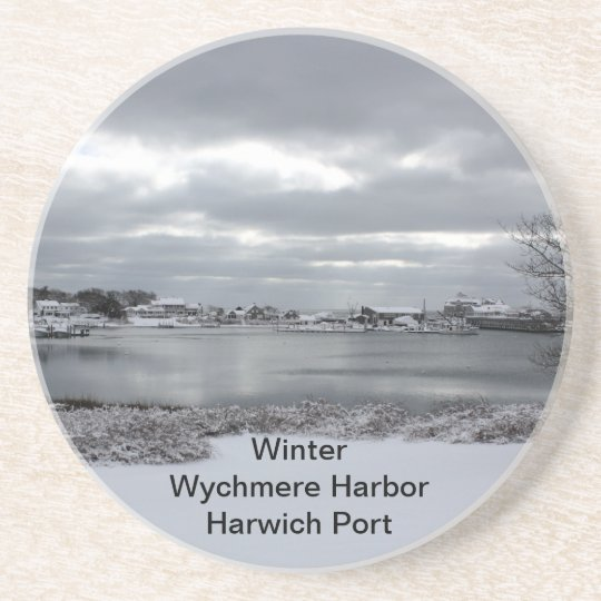 Sandstone Coaster of Wychmere Harbour in Winter