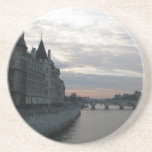 Sandstone Coaster with beautiful sunset in Paris