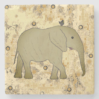 Sandstone Coasters Elephants Custom Stone Coaster