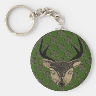 Sandstone Deer Basic Round Button Keychain