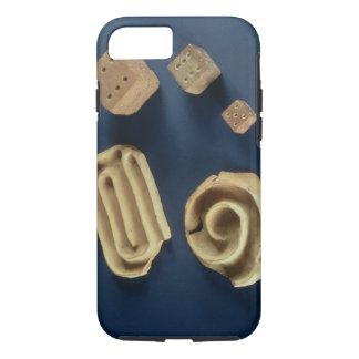 Sandstone dice and terracotta maze game, Harappa, iPhone 7 Case