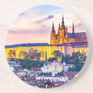 Sandstone Drink Coaster Prague