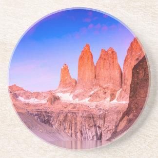Sandstone Drink Coaster Torres del Paine