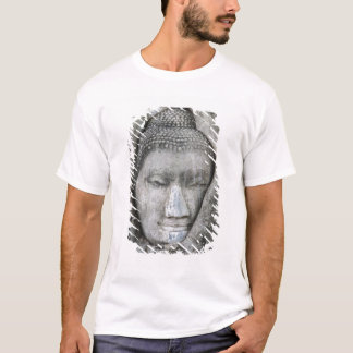 Sandstone head of Buddha surrounded by tree T-Shirt