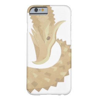 Sandstone heart dragon on white barely there iPhone 6 case