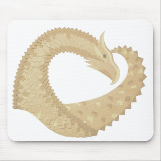 Sandstone heart dragon on white mouse pad