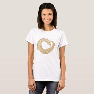 Sandstone heart dragon on white T-Shirt