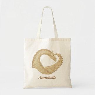 Sandstone heart dragon on white tote bag