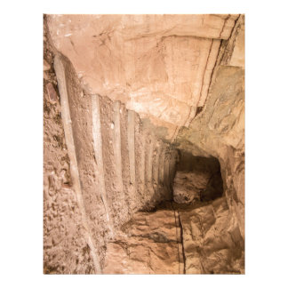 Sandstone Staircase In Abandoned Cave Dwelling Letterhead