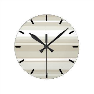 Sandstone stripes clocks