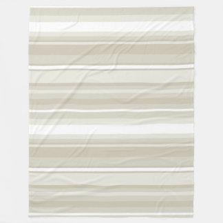 Sandstone stripes fleece blanket