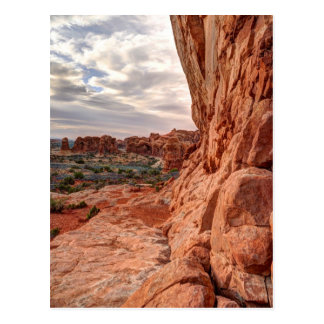 Sandstone Wall - Arches National Park Postcard