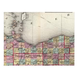 Sandusky, Seneca, and Summit Counties Postcard