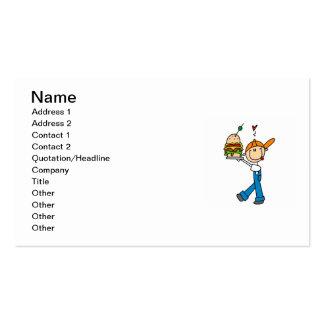 Sandwich Connoisseur Stick Figure Business Card