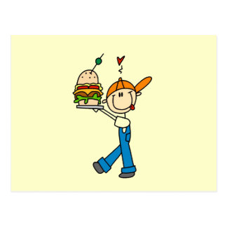 Sandwich Connoisseur Stick Figure Postcard